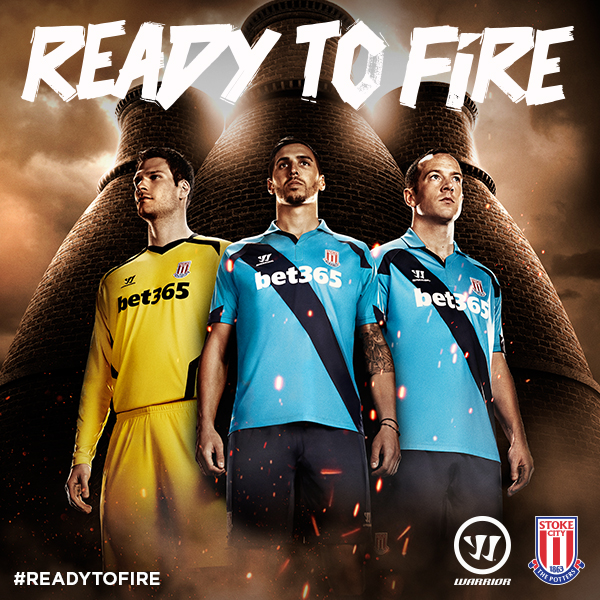 stoke city away shirt promo Stoke City Unveil Home and Away Shirts For 2014/15 Season From Warrior: Official [PHOTOS]