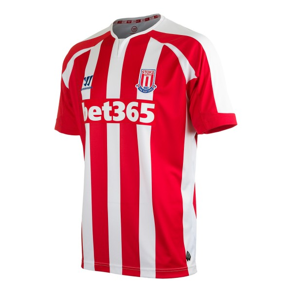 stoke city home shirt 600x600 Stoke City Unveil Home and Away Shirts For 2014/15 Season From Warrior: Official [PHOTOS]