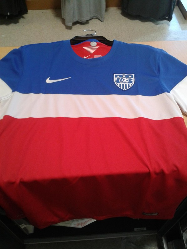 Bomb Pops or Dominos Pizza Delivery Uniform  More Photos of USMNT s Away  Jersey For World Cup 2014 8680e80c7