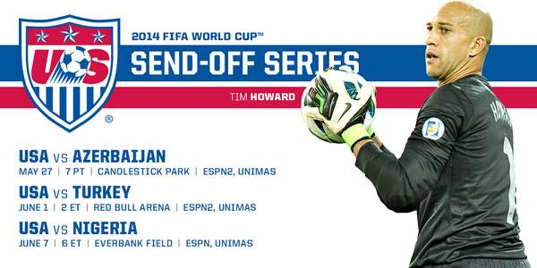usmnt world cup send off series USMNT Announce Pre World Cup Games In San Francisco, New Jersey and Jacksonville