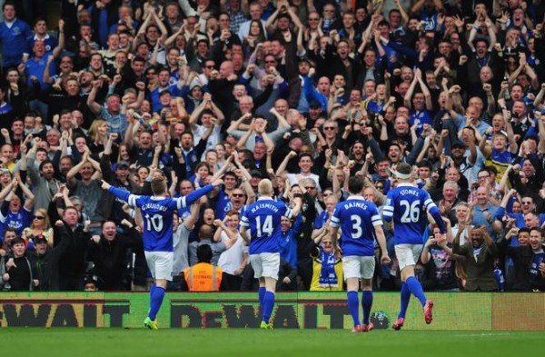 EFC Fans 600x393 Everton vs Arsenal: Toffees Must Seize Their Champions League Chance