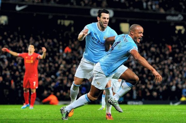 Kompany Liverpool 600x399 Top 5 Must See Soccer Games On TV This Week