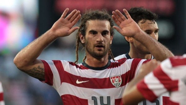 Kyle Beckerman 600x338 Kyle Beckerman, The USAs Dreadlocked Warrior