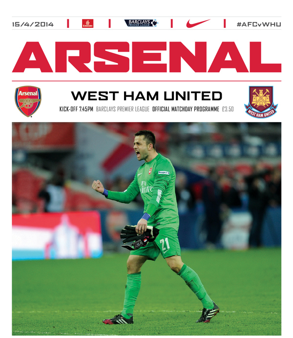 arsenal west ham programme Arsenal vs West Ham United, Premier League Gameweek 34: Open Thread