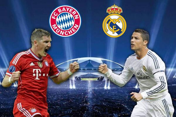 Resultado de imagem para Real Madrid X Bayern de Munique Semi Final da Champion League