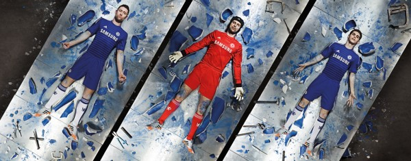 chelsea home shirt group 600x235 Chelsea Home Shirt For 2014/15 Season: Video and Official [PHOTOS]