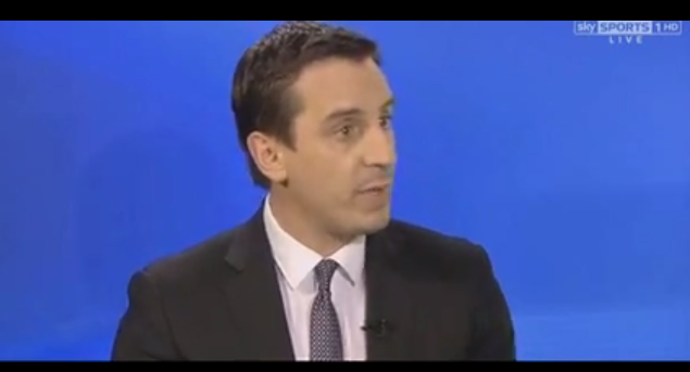 gary neville Gary Neville Says England is the Only Country in the World That Doesnt Encourage Diving [VIDEO]