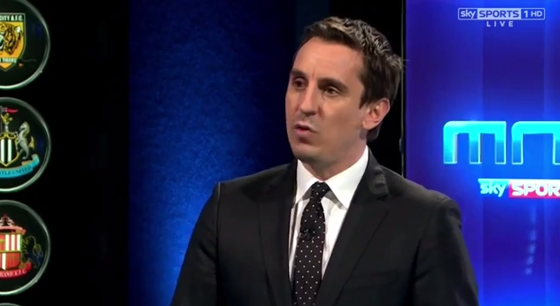 gary neville1 WATCH Gary Neville and Jamie Carragher Analyzing Newcastle Uniteds Terrible Defending [VIDEO]