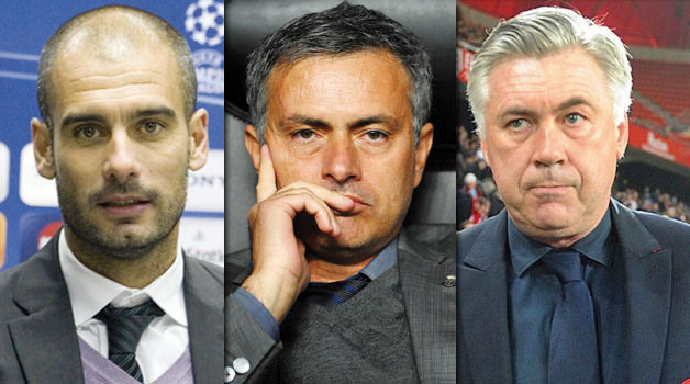 guardiola mourinho ancelotti Guardiola, Mourinho and Ancelotti Battle to Become First to Win UEFA Champions League 3 Times