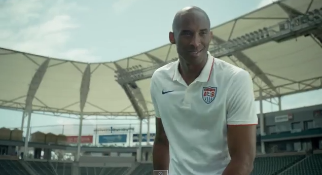 kobe bryant WATCH Kobe Bryant In New World Cup TV Commercial, Wearing a USMNT Jersey [VIDEO]
