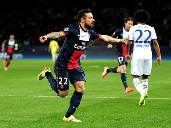 lavezzi 600x450 UEFA Champions League: What We've Learnt From This Week's Quarter Finals