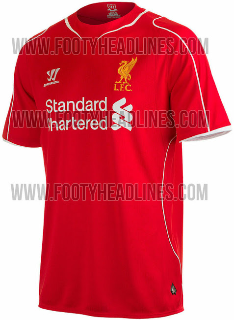 liverpool home shirt profile New Photos Reveal Liverpools Home Shirt For 2014/15 Season: Leaked [PHOTOS]