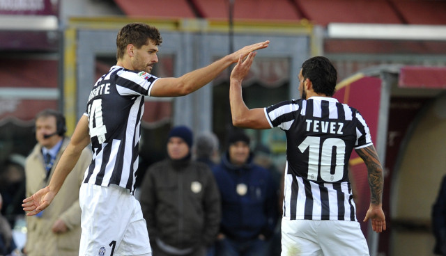 Llorente and Tevez