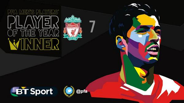 luis suarez PFA Names Luis Suarez Player of the Year While Eden Hazard Wins Young Player of the Year Honors