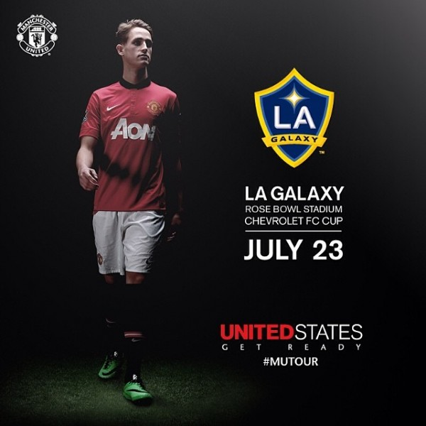 manchester united la galaxy 600x600 Manchester United to Play LA Galaxy In Friendly at Rose Bowl