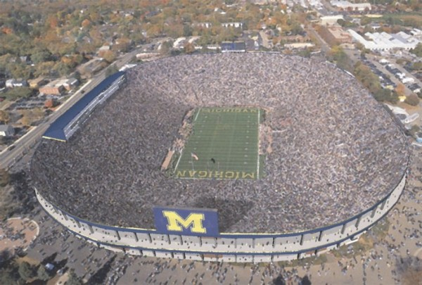 michigan stadium 600x405 Sold Out! More Than 100K Tickets for Real Madrid Manchester United Game In Michigan Sell Out On First Day