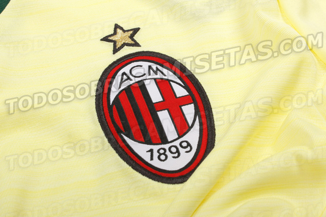 milan third shirt crest AC Milan Third Shirt For 2014/15 Season: Leaked [PHOTOS]