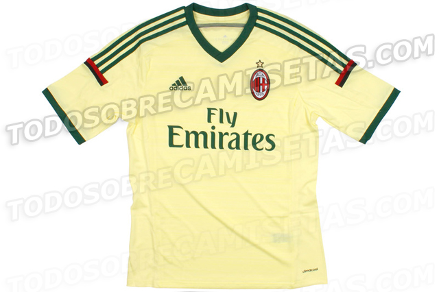 milan third shirt front AC Milan Third Shirt For 2014/15 Season: Leaked [PHOTOS]