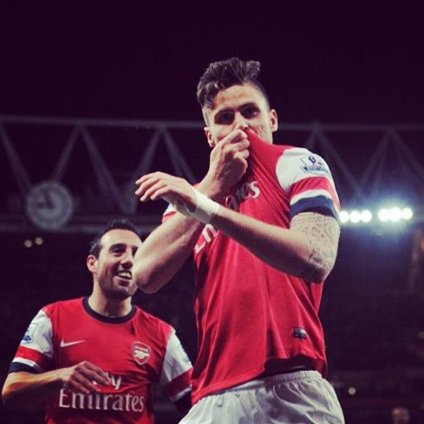 Arsenal Striker Olivier Giroud Relishing Danny Welbeck Link-up