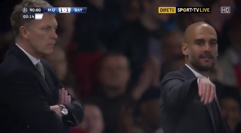 pep guardiola diving gesture WATCH Manchester United vs Bayern Munich and Barcelona vs Atletico Madrid, 1st Leg Match Highlights [VIDEO]