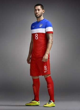 usmnt world cup away kit dempsey USMNT World Cup Away Shirt For Brazil 2014 Now Available: Official [PHOTOS]