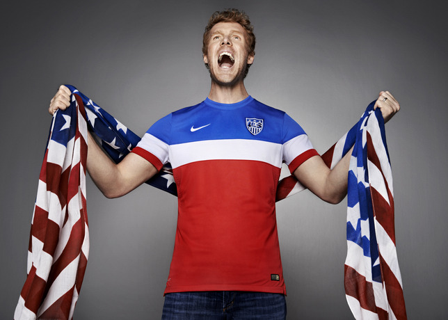 usmnt world cup away shirt alexi lalas flag Photos of USMNT World Cup Away Jersey Modeled By Spike Lee, Andrew Luck, Eric Koston and Other Stars