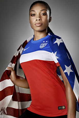 usmnt world cup away shirt allyson felix flag Photos of USMNT World Cup Away Jersey Modeled By Spike Lee, Andrew Luck, Eric Koston and Other Stars