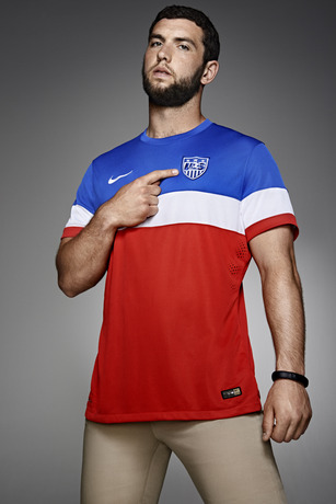 usmnt world cup away shirt andrew luck crest Photos of USMNT World Cup Away Jersey Modeled By Spike Lee, Andrew Luck, Eric Koston and Other Stars