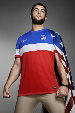 usmnt world cup away shirt andrew luck flag Photos of USMNT World Cup Away Jersey Modeled By Spike Lee, Andrew Luck, Eric Koston and Other Stars