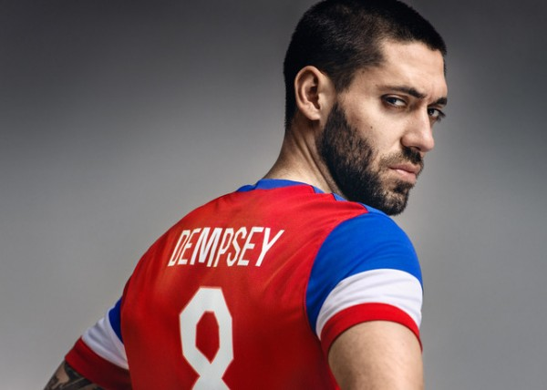 usmnt world cup away shirt clint dempsey back 600x428 Preview Of The United States in the 2014 World Cup