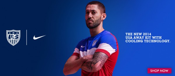 usmnt world cup away shirt dempsey 600x262 USMNT World Cup Away Shirt For Brazil 2014 Now Available: Official [PHOTOS]