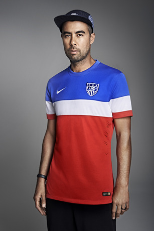 usmnt world cup away shirt eric koston hat Photos of USMNT World Cup Away Jersey Modeled By Spike Lee, Andrew Luck, Eric Koston and Other Stars