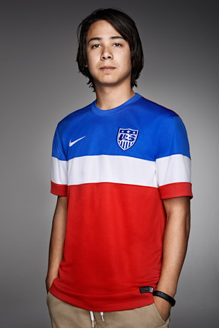 usmnt world cup away shirt sean malto portrait Photos of USMNT World Cup Away Jersey Modeled By Spike Lee, Andrew Luck, Eric Koston and Other Stars