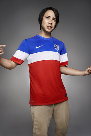 usmnt world cup away shirt sean malto Photos of USMNT World Cup Away Jersey Modeled By Spike Lee, Andrew Luck, Eric Koston and Other Stars