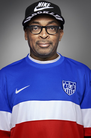 usmnt world cup away shirt spike lee front Photos of USMNT World Cup Away Jersey Modeled By Spike Lee, Andrew Luck, Eric Koston and Other Stars