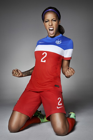 usmnt world cup away shirt sydney leroux front Photos of USMNT World Cup Away Jersey Modeled By Spike Lee, Andrew Luck, Eric Koston and Other Stars