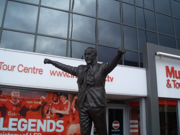 Bill Shankly statue 600x450 David Peaces Novel Red or Dead About Bill Shankly Now Available In US