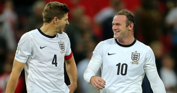 Gerrard Rooney 600x318 Test Your Football Knowledge For A Chance to Win 2 Tickets to England vs Peru at Wembley