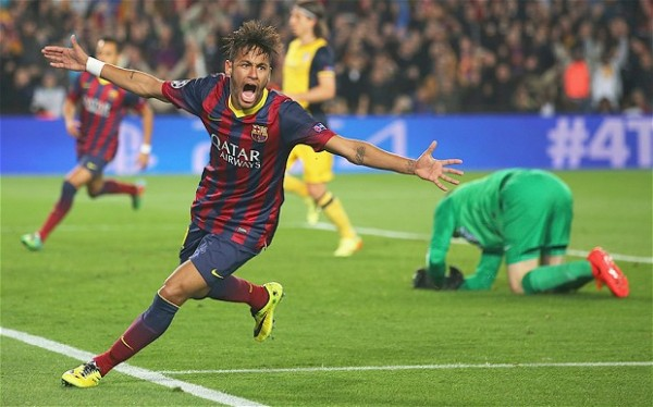 Neymar Atletico 600x374 The Top 5 Must See Soccer Games On TV This Weekend