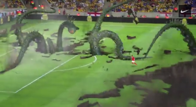 alex oxlade chamberlain ad WATCH Alex Oxlade Chamberlain Dribble Past Monster In New World Cup Ad From Nike [VIDEO]