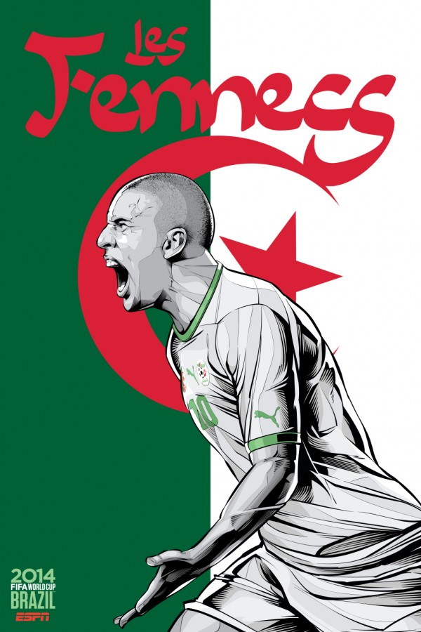 algeria world cup poster espn 600x900 View World Cup Posters For All 32 Teams At Brazil 2014 From ESPN