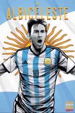 argentina world cup poster espn 150x226 View World Cup Posters For All 32 Teams At Brazil 2014 From ESPN