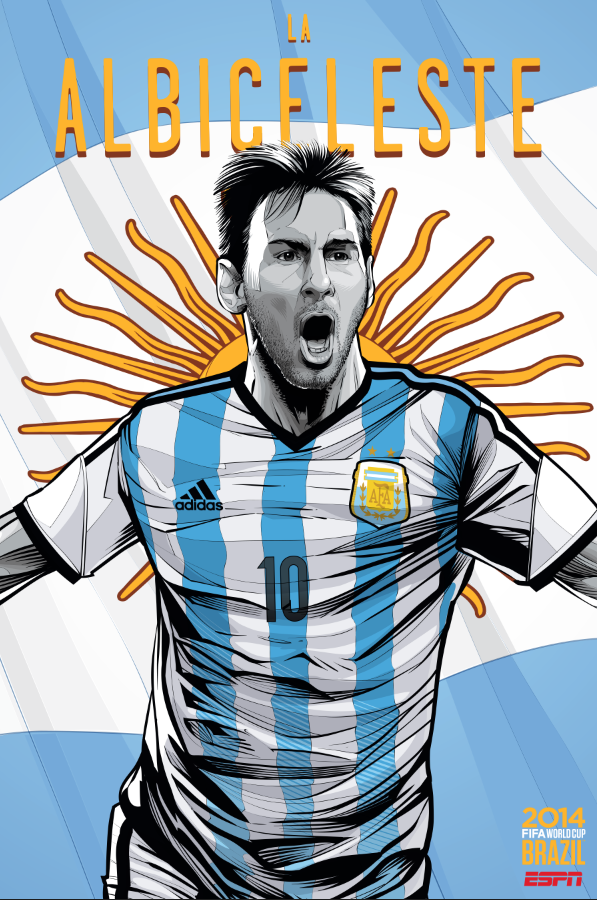 argentina world cup poster espn View World Cup Posters For All 32 Teams At Brazil 2014 From ESPN