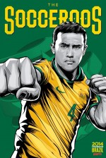 australia world cup poster espn 150x224 View World Cup Posters For All 32 Teams At Brazil 2014 From ESPN