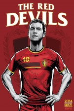 belgium world cup poster espn 150x225 View World Cup Posters For All 32 Teams At Brazil 2014 From ESPN