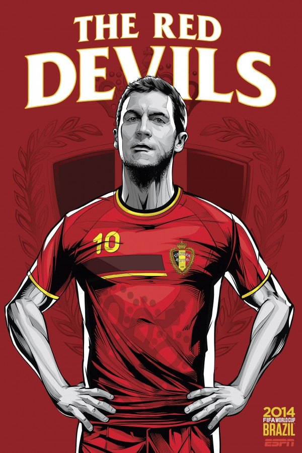 belgium world cup poster espn 600x900 Belgium and Algeria Preview: Noon ET/9am PT Kick Off in Belo Horizonte