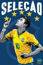 brazil world cup poster espn 150x224 View World Cup Posters For All 32 Teams At Brazil 2014 From ESPN