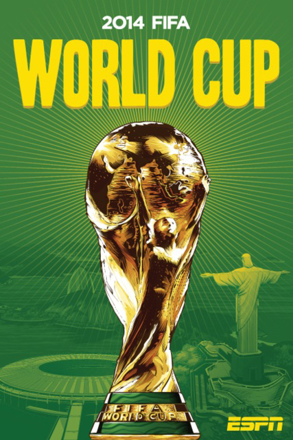 brazil world cup poster main espn View World Cup Posters For All 32 Teams At Brazil 2014 From ESPN