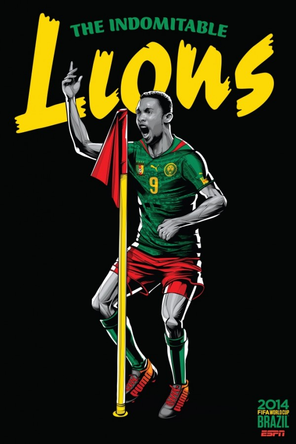 cameroon world cup poster espn 600x900 Cameroon National Team Being Investigated Due to World Cup Match Fixing Allegations