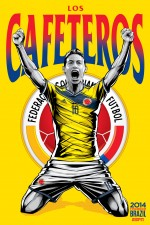 colombia world cup poster espn 150x225 View World Cup Posters For All 32 Teams At Brazil 2014 From ESPN